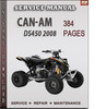 Thumbnail Can-Am DS450 2008 Factory Service Repair Manual Download