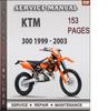 Thumbnail KTM 300 1999 - 2003 Factory Service Repair Manual Download