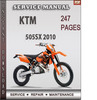 Thumbnail KTM 505SX 2010 Factory Service Repair Manual Download