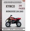 Thumbnail Kymco MONGOOSE 250 2005 Factory Service Repair Manual Download