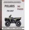 Thumbnail Polaris 700 2007 Factory Service Repair Manual Download