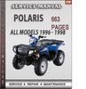 Thumbnail Polaris All Models 1996 - 1998 Factory Service Repair Manual Download