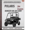 Thumbnail Polaris Ranger 500 2x4 2009 Factory Service Repair Manual Download