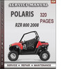 Thumbnail Polaris RZR 800 2008 Factory Service Repair Manual Download