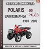Thumbnail Polaris Sportsman 400 1996 - 2003 Factory Service Repair Manual Download