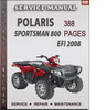 Thumbnail Polaris Sportsman 800 EFI 2008 Factory Service Repair Manual Download