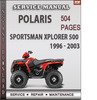 Thumbnail Polaris Sportsman Xplorer 500 1996 - 2003 Factory Service Repair Manual Download