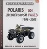 Thumbnail Polaris Xplorer 500 SM 1996 - 2003 Factory Service Repair Manual Download
