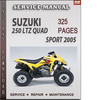 Thumbnail Suzuki 250 LTZ Quad Sport 2005 Factory Service Repair Manual Download