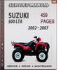 Thumbnail Suzuki 500 LTA 2002 - 2007 Factory Service Repair Manual Download