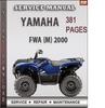 Thumbnail Yamaha FWA (M) 2000 Factory Service Repair Manual Download