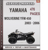 Thumbnail Yamaha Wolverine YFM 450 2003 - 2006 Factory Service Repair Manual Download