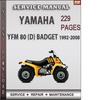 Thumbnail Yamaha YFM 80 (D) BADGET 1992-2008 Factory Service Repair Manual Download