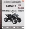 Thumbnail Yamaha YFM 80 (D) GRIZZLY 1992-2008 Factory Service Repair Manual Download