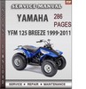 Thumbnail Yamaha YFM 125 BREEZE 1999-2011 Factory Service Repair Manual Download