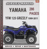 Thumbnail Yamaha YFM 125 Grizzly 1999-2011 Factory Service Repair Manual Download