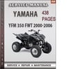 Thumbnail Yamaha YFM 350 FWT 2000-2006 Factory Service Repair Manual Download
