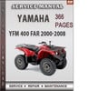 Thumbnail Yamaha YFM 400 FAR 2000-2008 Factory Service Repair Manual Download