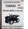 Thumbnail Yamaha YFM 600 Grizzly 1998-2001 Factory Service Repair Manual Download