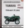 Thumbnail Yamaha YFM 660 F 2002 Factory Service Repair Manual Download