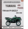 Thumbnail Yamaha YFM 660 FP GRIZZLY 2002-2006 Factory Service Repair Manual Download