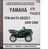 Thumbnail Yamaha YFM 660 FS GRIZZLY 2000-2006 Factory Service Repair Manual Download