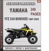 Thumbnail Yamaha YFZ 350 Banshee 1987-2003 Factory Service Repair Manual Download