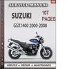 Thumbnail Suzuki GSX1400 2000-2008 Factory Service Repair Manual Download