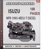 Thumbnail Isuzu NPR 1993 4BD2-T Disel Engine Factory Service Repair Manual Download