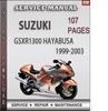 Thumbnail Suzuki GSXR1300 Hayabusa 1999-2003 Factory Service Repair Manual Download