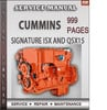 Thumbnail Cummins Signature ISX and QSX15 Factory Service Repair Manual Download