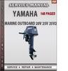 Thumbnail Yamaha Marine Outboard 20V 25V 25V2 Factory Service Repair M