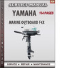 Thumbnail Yamaha Marine Outboard F4X Factory Service Repair Manual