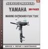 Thumbnail Yamaha Marine Outboard F25C T25C Factory Service Repair Manu