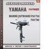 Thumbnail Yamaha Marine Outboard F50 T50 F60 T60 Factory Service Repai