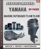Thumbnail Yamaha Marine Outboard T9.9W F9.9W Factory Service Repair Ma