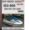Thumbnail Seadoo 5805 5851 5812 5860 1992 Shop Service Repair Manual D