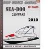 Thumbnail Seadoo 230 Wake 2010 Shop Service Repair Manual Download