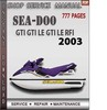 Thumbnail Seadoo GTI GTI LE GTI LE RFI 2003 Shop Service Repair Manual