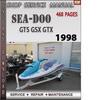 Thumbnail Seadoo GTS GSX GTX 1998 Shop Service Repair Manual Download
