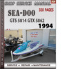 Thumbnail Seadoo GTS 5814 GTX 5862 1994 Shop Service Repair Manual Dow