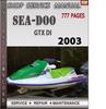 Thumbnail Seadoo GTX DI 2003 Shop Service Repair Manual Download