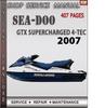 Thumbnail Seadoo GTX Supercharged 2007 4-TEC Shop Service Repair Manua