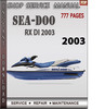 Thumbnail Seadoo RX DI 2003 Shop Service Repair Manual Download