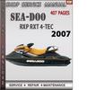 Thumbnail Seadoo RXP RXT 2007 4-TEC Shop Service Repair Manual Downloa