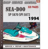 Thumbnail Seadoo SP 5870 SPI 5872 1994 Shop Service Repair Manual Down