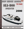 Thumbnail Seadoo SPEEDSTER 2000 Shop Service Repair Manual Download