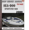 Thumbnail Seadoo Sportster 1800 2000 Shop Service Repair Manual Downlo
