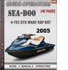 Thumbnail Seadoo 4-TEC GTX WAKE RXP RXT 2005 Operators Guide Manual Do