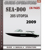 Thumbnail Seadoo 205 UTOPIA 2009 Operators Guide Manual Download